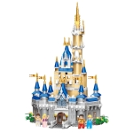 XP96029A Fairy Tale Castle Small Particles High Difficulty Puzzle Building Blocks Toy