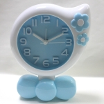 2 PCS DC008 Child Small Flower Styling Alarm Clock Bed Night Lights Clock(Blue)
