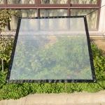 Balcony Windows Transparent Rainproof Cloth Plants Insulation Anti-Bird Thick Windshield, Specification: 0.9x1m Soft Glass