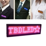 LED Badge With Scrolling Characters Light-Emitting Badges, Support Multiple Languages, Screen Size: 93 X 30 X 6mm, Random Color Delivery