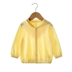 Baby Sun Protection Bamboo Fiber Long Sleeve Jacket (Color:Yellow Size:73)