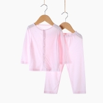 Children Home Seamless Bamboo Fiber Underwear Set (Color:Pink Size:120)