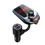 D5 Multifunctional Car Dual USB Charger MP3 Music Player Bluetooth FM Transmitter (Black)