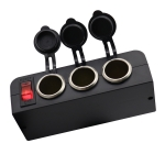 3 in 1 12-24V 16A Car Cigarette Lighter Socket with Overload Protection Switch Control