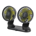 F404 Car Center Console USB Dual-head Electric Cooling Fan with Aromatherapy