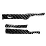 5 in 1 Car Carbon Fiber Automatic Gear Decorative Sticker for Honda Civic 8th Generation 2006-2011, Right Drive