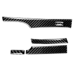 5 in 1 Car Carbon Fiber Automatic Gear Decorative Sticker for Honda Civic 8th Generation 2006-2011, Left Drive
