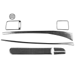 8 in 1 Car Carbon Fiber Front Passenger Seat Dashboard Decorative Sticker for Honda Civic 8th Generation 2006-2011, Right Drive