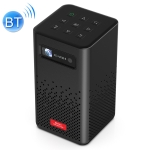 H300 854 x 480 100ANSI Lumens 2.4G / 5G Wifi + Bluetooth Smart Music Projector with Infrared Remote Control, Support Android 9.0 System(Black)