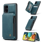 For Samsung Galaxy A51 4G CaseMe C20 Multifunctional PC + TPU Protective Case with Holder & Card Slot & Wallet(Blue)