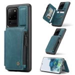 For Samsung Galaxy S20 Ultra CaseMe C20 Multifunctional PC + TPU Protective Case with Holder & Card Slot & Wallet(Blue)