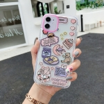 Double Color TPU Pattern Protective Case For iPhone 11 Pro Max(Moon Bear)