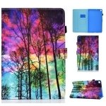 Painted Pattern TPU Horizontal Flip Leather Protective Case For Samsung Galaxy Tab A7 10.4 (2020)(Forest)