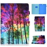 Painted Pattern TPU Horizontal Flip Leather Protective Case For Samsung Galaxy Tab A 9.7(Forest)
