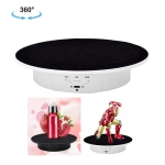 20cm USB Electric Rotating Turntable Display Stand Video Shooting Props Turntable for Photography, Load: 8kg(White Base Black Velvet)