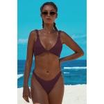 Women Sexy Printed Temptation Bikini, Size:XL(Purple)
