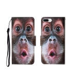 For iPhone 7 Plus Painted Pattern Horizontal Flip Leathe Case(Orangutan)