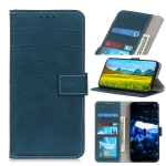 For OnePlus 9R Crocodile Texture Horizontal Flip Leather Case with Holder & Card Slots & Wallet(Dark Green)