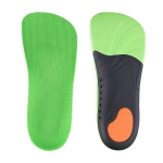 1 Pair 068 Sports Shockproof Massage Arch Of Foot Flatfoot Support Half Insole Shoe-pad, Size:S (245-250mm)(Green Orange)