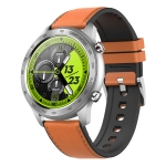 MX5 1.3 inch IPS Screen IP68 Waterproof Smart Watch, Support Bluetooth Call / Heart Rate Monitoring / Sleep Monitoring, Style: Leather Strap(Brown)