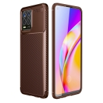 For OPPO Realme 8 Carbon Fiber Texture Shockproof TPU Case(Brown)