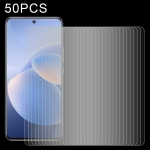 For vivo X60 50 PCS 0.26mm 9H 2.5D Tempered Glass Film