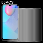 For vivo Y30 Standard 50 PCS 0.26mm 9H 2.5D Tempered Glass Film