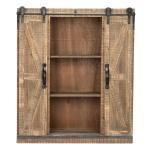 [US Warehouse] Double Door Slide Rail TV Side Cabinet, Size: 75x25x81cm