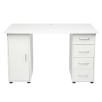 [US Warehouse] One Door Four Drawers Computer Desk, Size: 120x54x74cm
