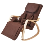[US Warehouse] Casual Cotton Cushion Rocking Chair Multifunctional Massage Chair Recliner, Size: 51x 36.2 x 28 inch(Brown)