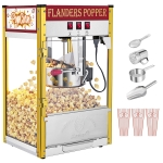 [US Warehouse] 850W 120V-60HZ 8oz Retro Single Door Popcorn Machine, Size: 43.6x37x58.8cm