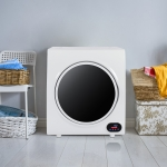 [US Warehouse] 110V 1400W 4KG Portable Household LED Touch Screen Compact Laundry Tumble Clothes Dryer, US Plug (White)