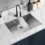 [US Warehouse] Stainless Steel Single Bowl Kitchen Sink, Size: 32 x 18 x 9 inch