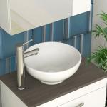 [US Warehouse] Ceramic Basin Single Bowl Hand Wash Bathroom Basin, Size: 16 x 16 x 7 inch