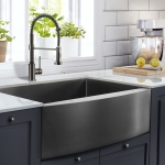 [US Warehouse] Stainless Steel Single Bowl Kitchen Sink, Size: 30 x 21 x 10 inch