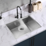 [US Warehouse] Stainless Steel Single Bowl Kitchen Sink with Chopping Board, Size: 30 x 19 x 9 inch
