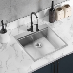 [US Warehouse] Stainless Steel Single Bowl Kitchen Sink with Chopping Board, Size: 25 x 22 x 9 inch
