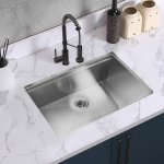 [US Warehouse] Stainless Steel Single Bowl Kitchen Sink with Chopping Board, Size: 30 x 18 x 9 inch