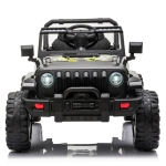 [US Warehouse] 12V 2.4G Double Drive Electric Car with Remote Control & Built-in Horn & LED Lights (Black)