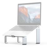R-JUST BJ05 Detachable I-shaped Aluminum Alloy Laptop Holder for 13-17 inch Laptops (Silver)