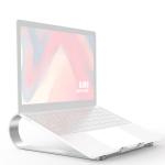 R-JUST BJ06 Detachable Shofar-shaped Aluminum Alloy Laptop Holder for 13-17.3 inch Laptops (Silver)
