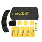 Metaball 6 in 1 Outdoor Mini Inflatable Volleyball + Volleyball Net + Pump Spike-ball Game Set