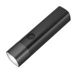 Portable Outdoor Camping USB Strong Light Small Flashlight LED Night Riding Light (Black)