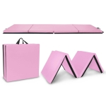 [US Warehouse] Foldable PVC EVA Exercise Yoga Gymnastics Mat, Size: 120x300x5cm (Pink)