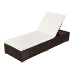 [US Warehouse] Outdoor Leisure Rattan Furniture Chaise, Size: 122x72x22cm