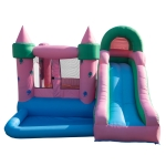 [US Warehouse] Inflatable Jellyfish Trampolines with Pool & Slide & Air Blower, Size: 110x126x83 inch