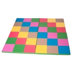 [US Warehouse] Colorful Portable Foldable Gymnastic Mat, Size: 146x146x3cm