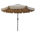 [US Warehouse] Outdoor Patio Umbrella with Crank & Push Button Tilt, Size: 10Ft (Light Brown)
