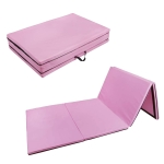 [US Warehouse] Foldable PVC EVA Exercise Yoga Gymnastics Mat, Size: 120x240x5cm (Pink)