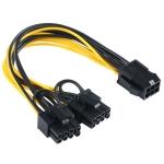 6 Pin to Dual PCI-E PCIe 8 Pin (6+2Pin) Power Cable